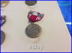 WW2 PURPLE HEART Medal With Name And Other Metals (Authentic) GI Issued WWII