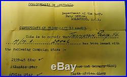 WW2 RAN medal group of 6, THOMPSON, Africa, Pacific, Burma