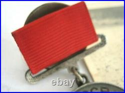WW2 RED ARMY Medal For Services in Battle #152515 Early Type 1942 with Research