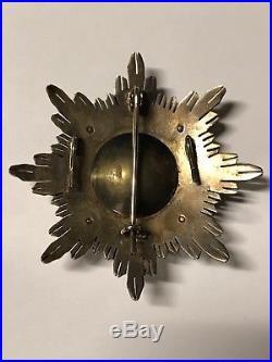 WW2 Spanish War Order Of Military Merit Cross Breast Star Badge Medal Civil WW1