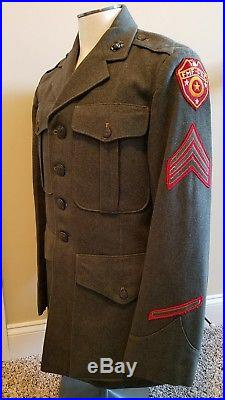 WW2 USMC Named Uniforms and Good Conduct Medal Numbered Engraved
