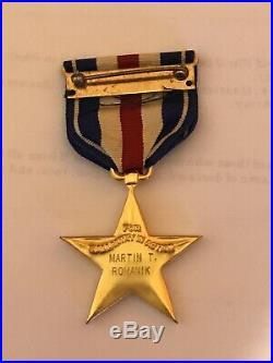 WW2 US/American Named S1lver Star Medal KIA Tanker in Germany Pin/Badge