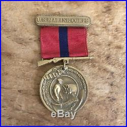 WW2 U. S. Marine Corps Named Lot Thumbprint Dog Tag Sterling Good Conduct Medal