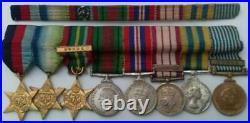 WW2 and Korea Medal Group (8) Plus Miniatures and Ribbon Bar to P. O. TATE R. N