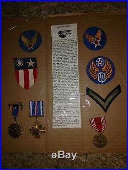 WW2 cbi medal grouping with paperwork