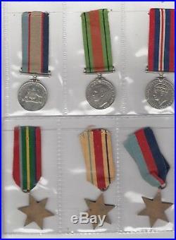 WW2 medal group of 6 Australian sapper Fred Delamare WX3495, 2 Docks Op Coy RAE