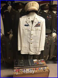 WWII Korea Vietnam 3rd Armored Division Dress White Uniform Medals SSM WW2 Valor