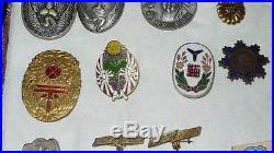 WWII Lot of Japanese medals, badges. Police, Fireman, Postal, Veterans WW2