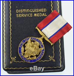 WWII (WW2) Era U. S. Army Distinguished Service Medal in Titled Case