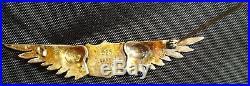 WWI Sterling 925 Silver Pilots Wings Made in Lebreve Paris WW1 Badge Medal
