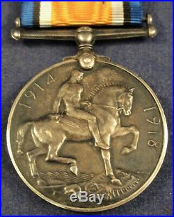 WW 1 Officer's British War Medal Captain Harker 8th Battalion Hampshire Regiment