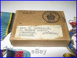WW 2 Casualty RAF 90 Sqdn KIA Medal group Father & Sons Died in Service Lot RNVR