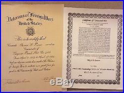 WW II, Korean & Vietnam War, Capt. T. H. Bruce USMC Medal, Sword & Document Group