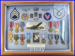 WW II Korean War USAF Army Air Force Medal Group Named withPics Eagle Scout BSA