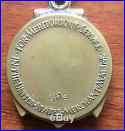 WW II Merchant Marine Meritorious Service Medal Cased and Boxed