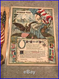 World War 1 Collection US Helmet German Belt Posters Medal WWI Doughboy Brodie