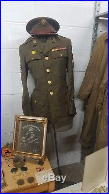 World War II Memorabilia Uniform Letters Posters Photos Clothing Medals Tags