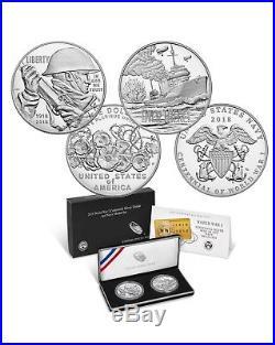 World War I Centennial 2018 Silver Dollar and Navy Medal Set Lot 2
