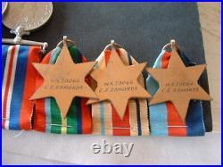 Ww11 Australian Medal Group Wx20066 C. E Edmonds 2/28 Batt El Alamein, N. G, Labuan