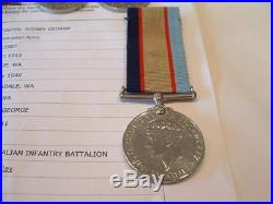 Ww11 Australian Service Medal Wx 2987 Foster Sydney George 2/16 Batt K. I. A 1941