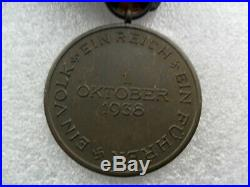 Ww11 German medal, entry into Sudetenland with Prague bar