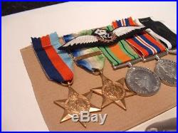 Ww11 Nzraf Medal Group Atlantic Star, France And Germany Clasp, Wings And Photo
