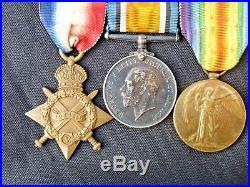 Ww1,1914/15 Star, Bwm, Victory, Medal. Staff Nurse, Qaimnsr, Served Bombay, India