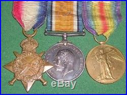 Ww1 1914-15 Trio Of Medals, Pte / 2nd Lieut Francis, 2nd Rhodesia R & Tank Corps