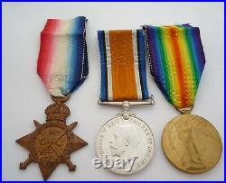 Ww1 1914 Star Medal Trio Anson Battalion Royal Naval Division Kia Gallipoli