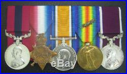 Ww1 1916 D. C. M. And M. I. D. Medal Group R. F. A. And W. O. 1 Tank Corps