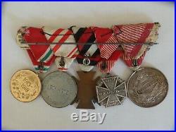Ww1 5 Piece German/prussian Medal Bar. Original No Ribbon Glow
