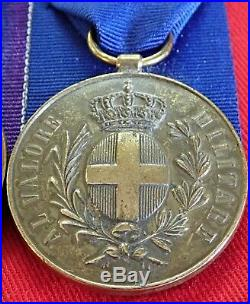 Ww1 British Army Distinguished Conduct Group & Italian Bronze Medal For Valour