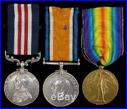Ww1 British Military Medal Group & War & Victory Medal North'd. Fus
