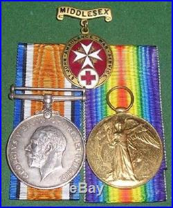 Ww1 British War & Victory Medal Pair With Associated Items, Mrs Hamilton, V. A. D