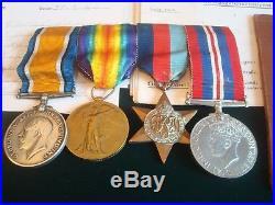 Ww1 Bwm / Victory / Ww2 Dunkirk Pow Group 1939/45 Star War Medal