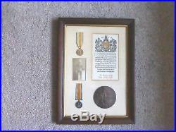 Ww1 Death Plaque, Penny, Victory & War Medal