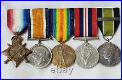 Ww1 Gallipoli City Of London Yeomanry Medal Group Ramsey Inspector Rhodesia Bsap