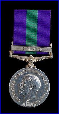 Ww1 General Service Medal 1918-62 Iraq Clasp 88904. Pte. A. S. Eynon. Manch. R