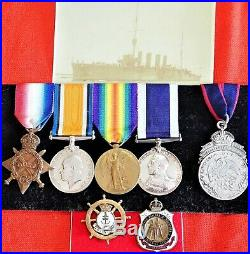 Ww1 Hmas Sydney Emden Action British Royal Navy Medal Group Of 5 With Badges