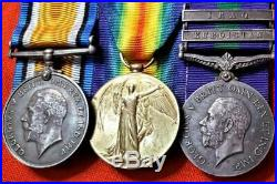 Ww1 & Iraq Kurdistan Medal Group Lt. Crosse Machine Gun Corps & Yorkshire Regt