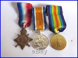 Ww1 Medal Trio Leicestershire Regiment Pte O Davie