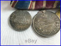 Ww1 Medal Trio, Meritorious Service Medal Set Military