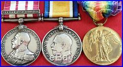 Ww1 Medal Trio Royal Naval Marine Light Infantry Scarratt Ngsm Persian Gulf
