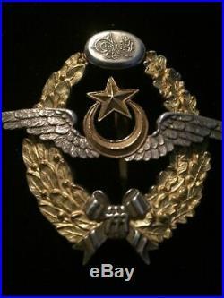 Ww1 Ottoman Empire Turkish Turkey Pilot Wings Badge Medal