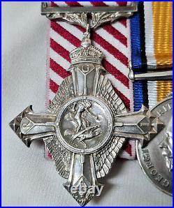 Ww1 Rfc & Raf Afc Fighter Pilot Medal Group Squadron Leader Robertson 19 Sqn