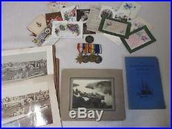 Ww1 Royal Navy Medal Group & Ephemera