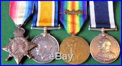 Ww1 Royal Navy Medal Group With Ls&gc, M. I. D For Minesweeping 1918, Hms Columbine