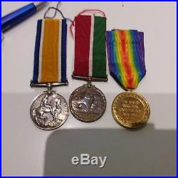 Ww1 Trio Medals Mercantile Marine War Medal & British War Medal, Victory Medal