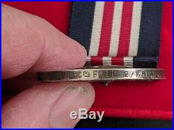 Ww1 Welch Regiment Double Gallantry Casualty Medal Group