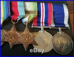 Ww1 / Ww2 Battle Of Jutland Medal Group Hms Royal Oak E Brassington Portsmouth